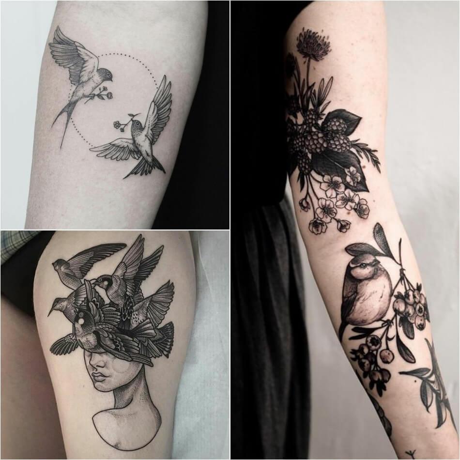 Тату Птицы - Женские тату птицы - Татуировка птицы для девушек