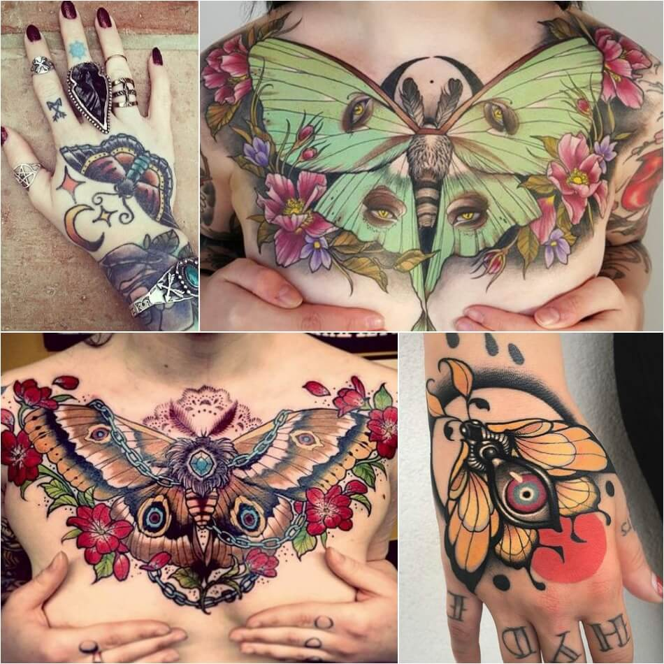 Тату для девушек - Тату бабочка для девушек - Женские тату бабочка