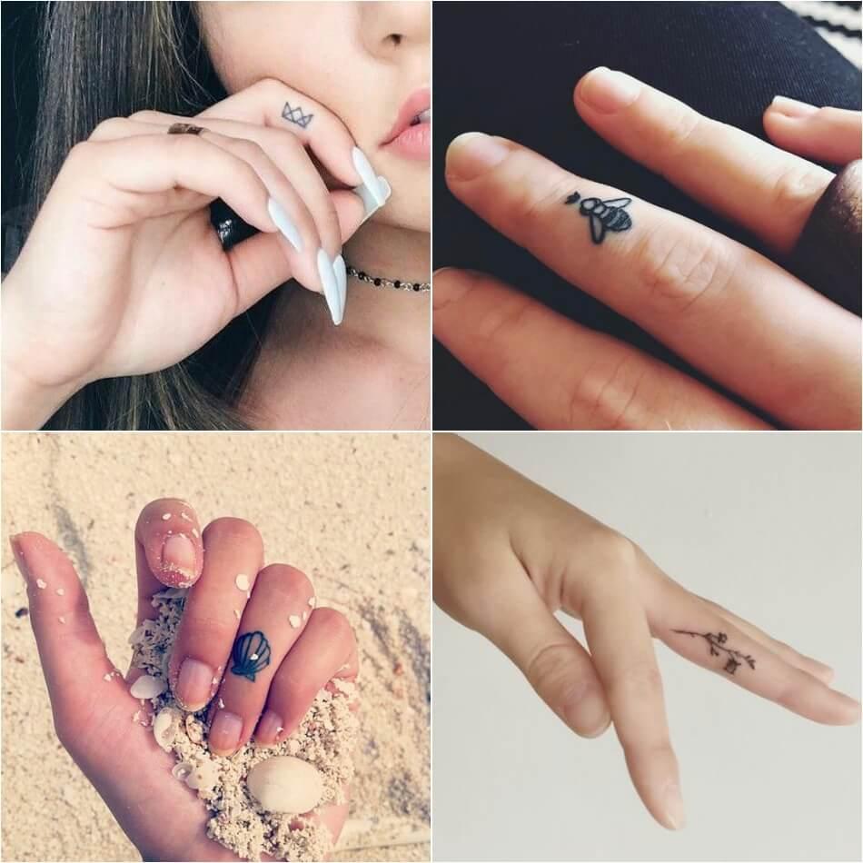 Тату для девушек - тату на пальце для девушек