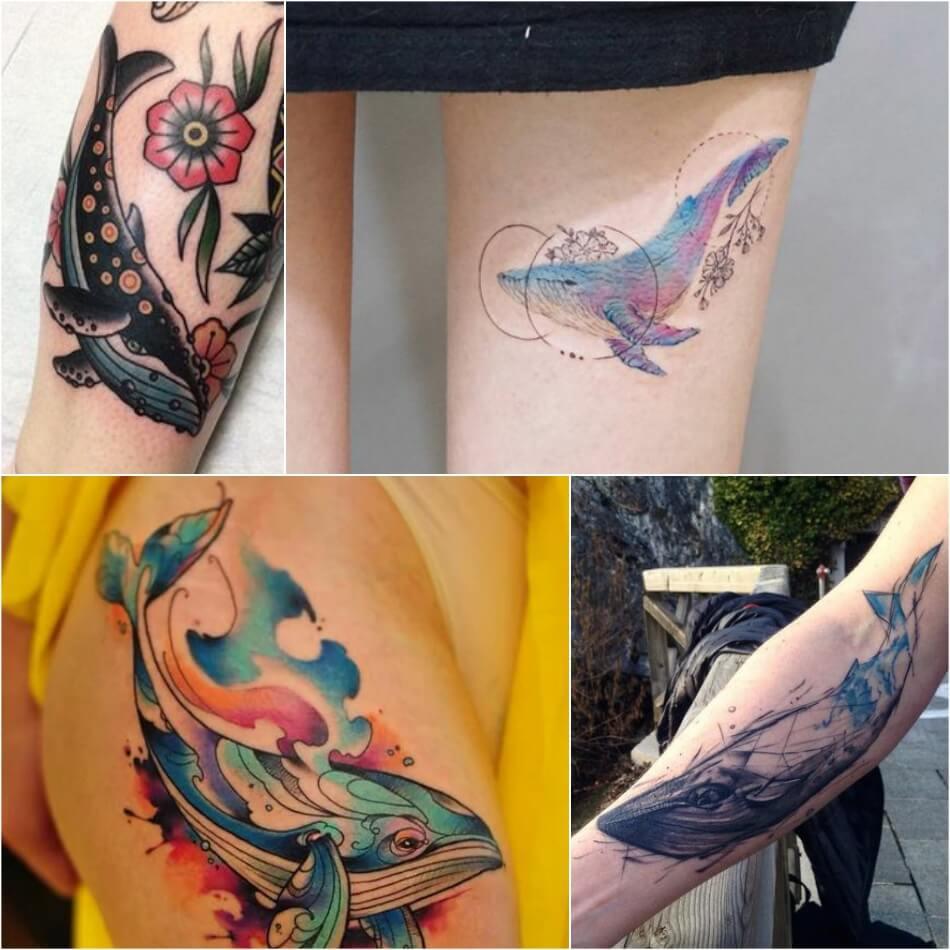 Тату кит - женские тату кит - Тату кит для девушек