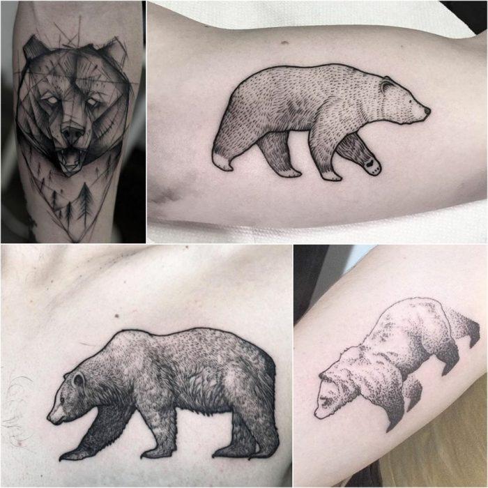 Тату медведь - Мужские тату медведь - Тату для мужчин медведь