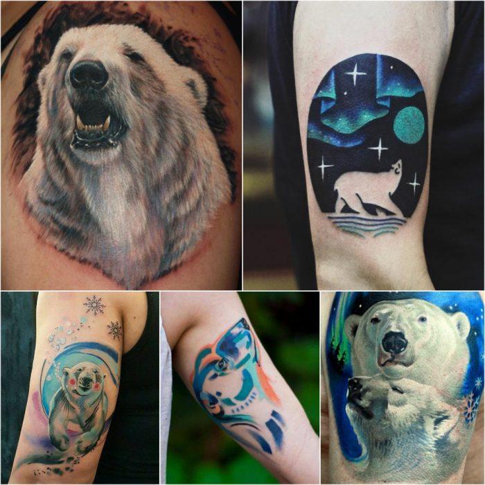 Тату медведь - Тату белый медведь - Татуировка белый медведь