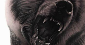 Тату медведь -татуировка медведь - Тату медведь значение