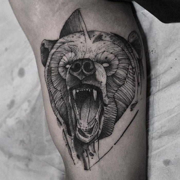 Тату медведь - Татуировка медведь - Значение тату медведь