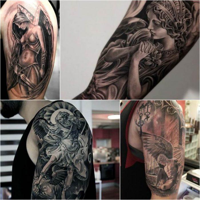 Тату на плече - Тату ангел на плече - Татуировка ангел на плече