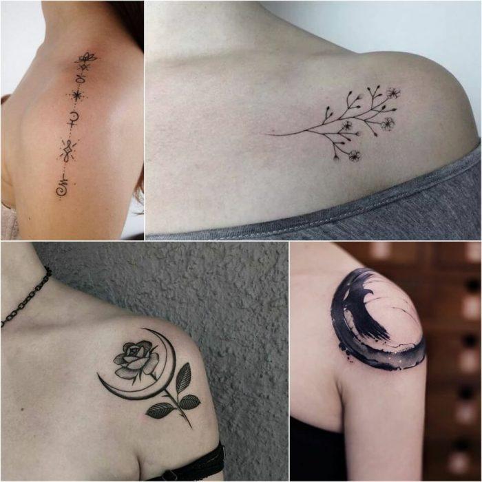 Тату на плече - Тату на плече маленькие - Маленькие татуировки на плече
