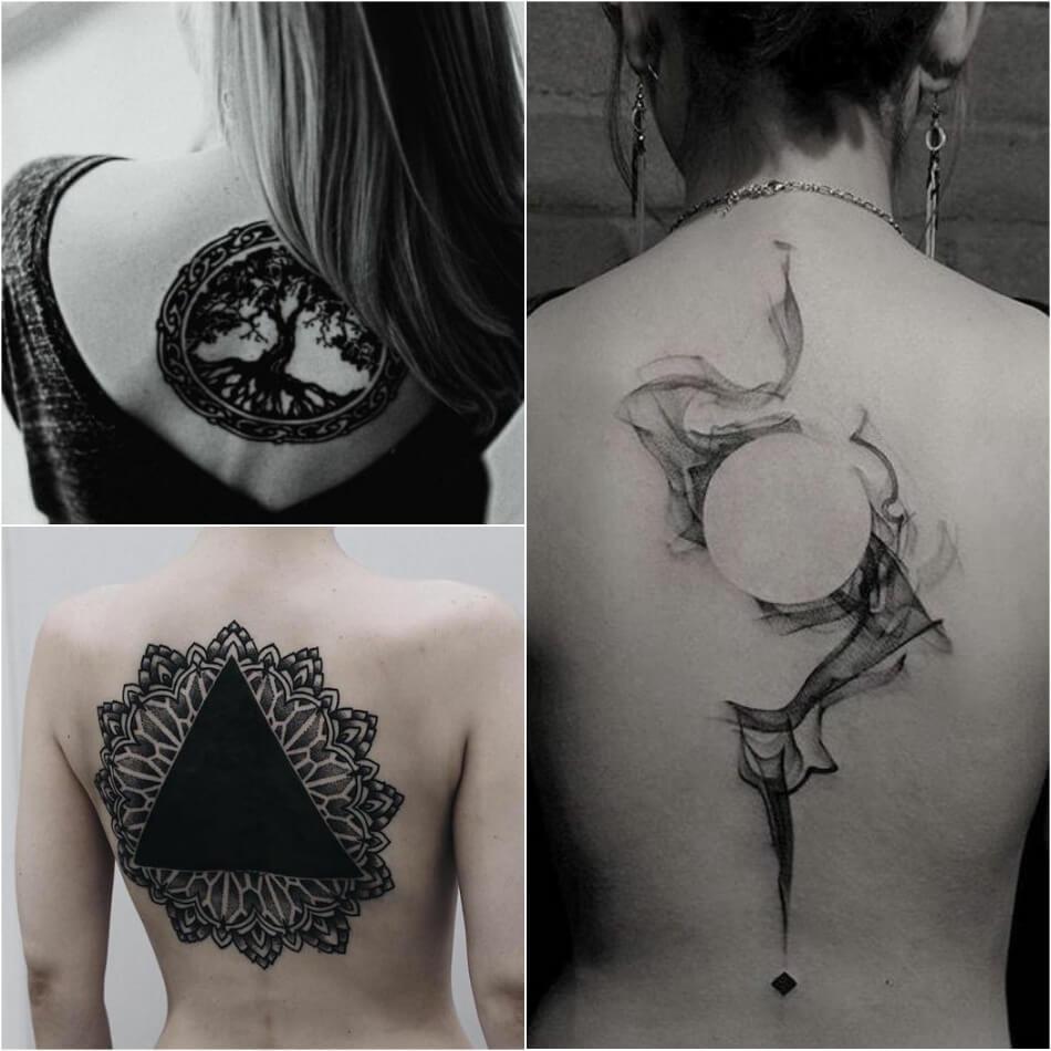 Тату на спине - Женские тату на спине - Татуировки на спине для девушек