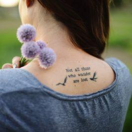 Тату надпись - Женские тату надпись - татуировка надпись для девушек