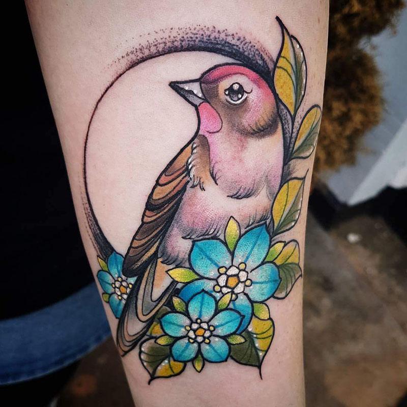 Тату птица - Татуировка птица - Тату с птицей
