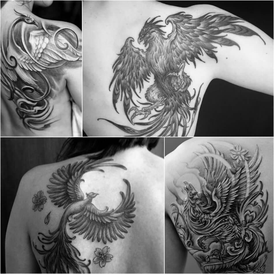 Тату птицы - Тату феникс - Татуировка феникс