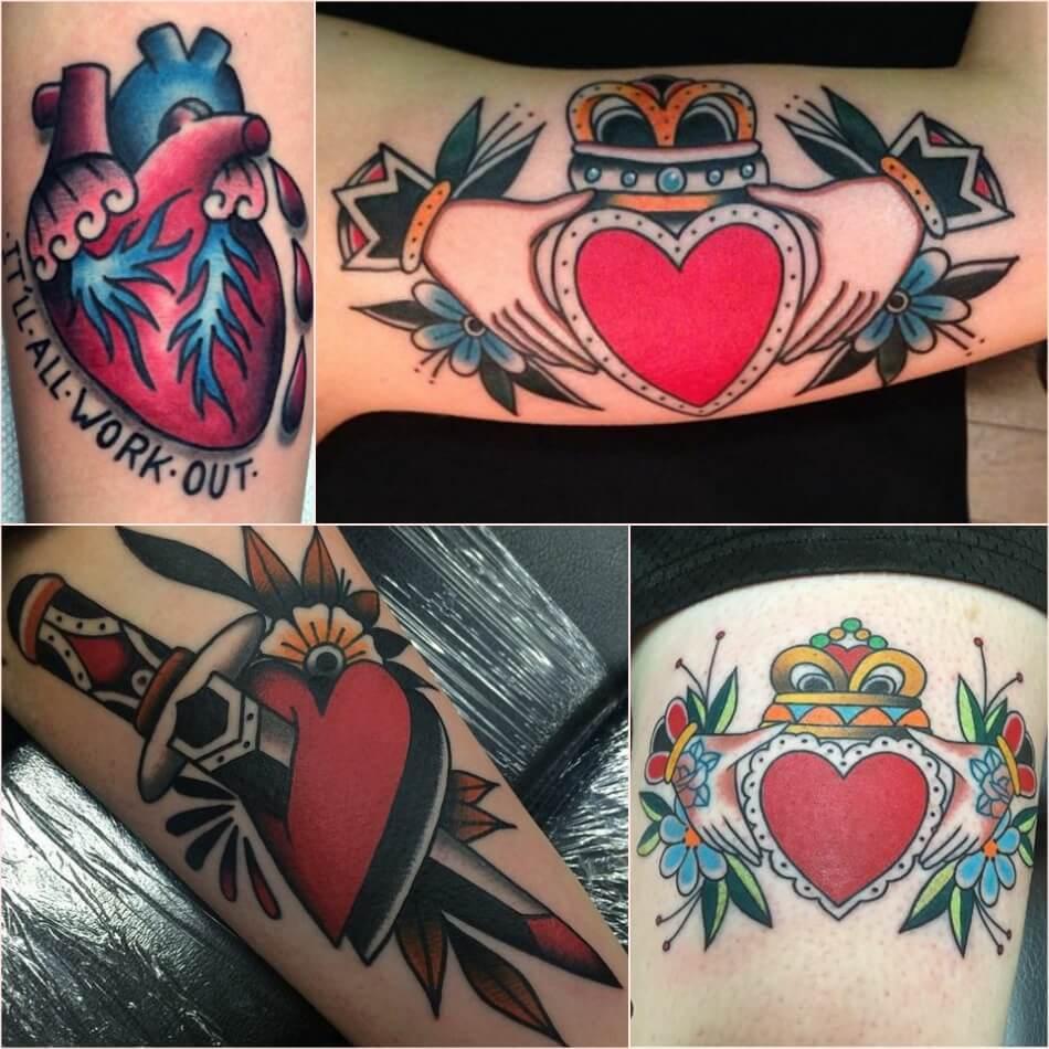 Тату сердце - Женские тату сердце - тату сердце для девушек
