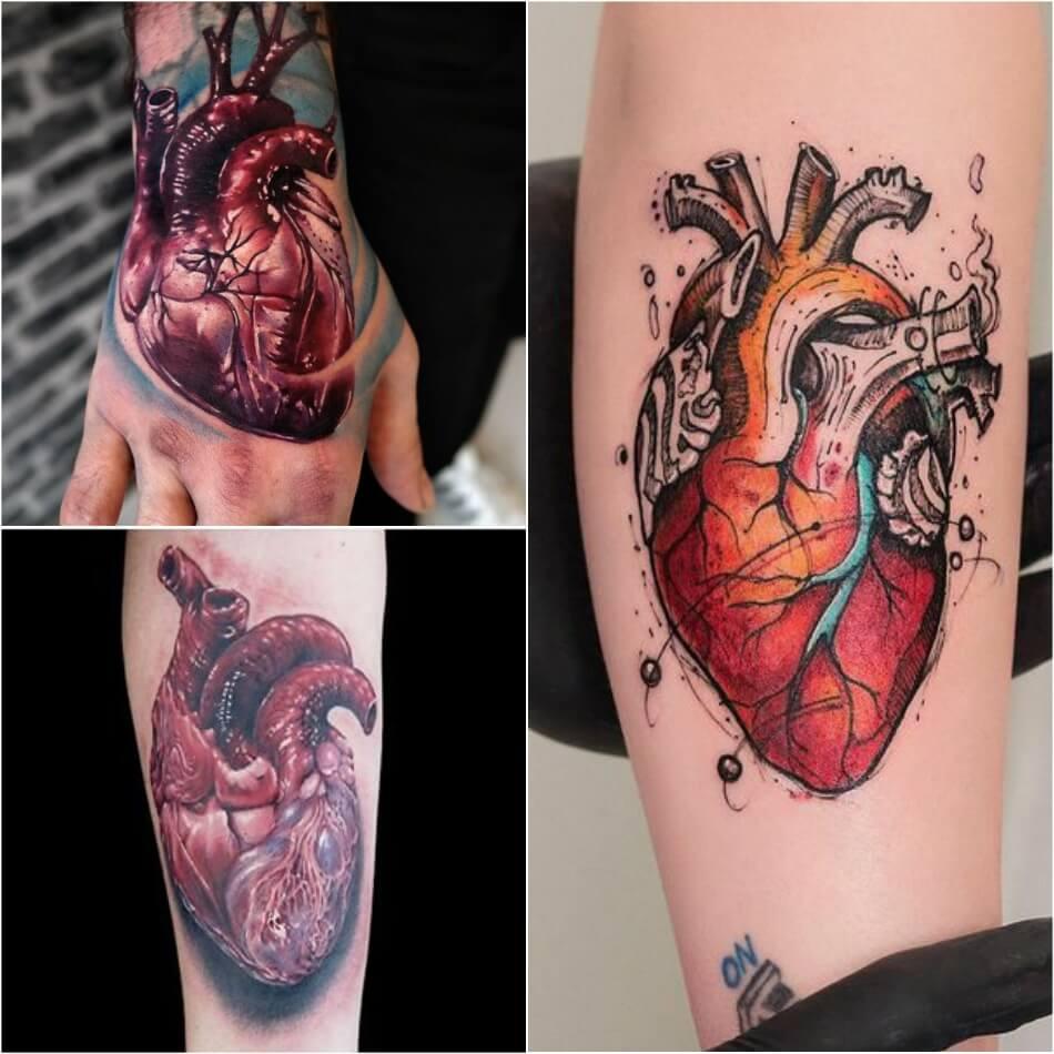 Тату сердце - тату сердце реализм - Тату сердце анатомия