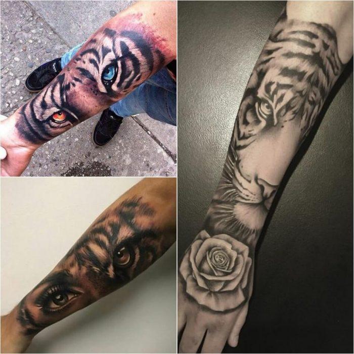 Тату тигр - Мужское тату тигр - татуировка тигр для мужчин