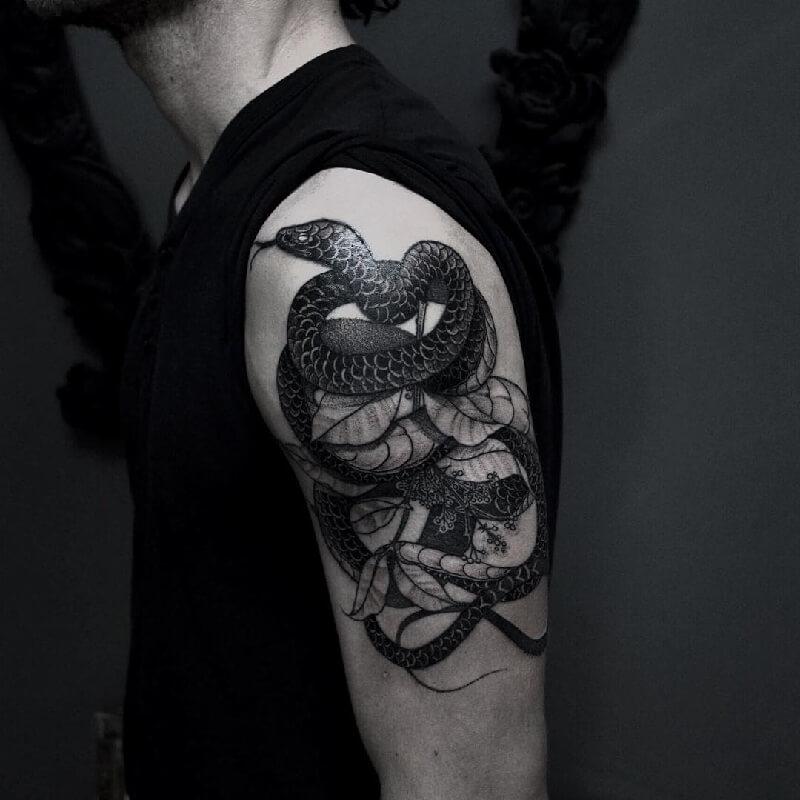 Тату змея - Татуировка змея - Значение тату змея