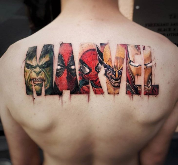Тату марвел - Тату супергерои - тату мстители - Татуировки марвел