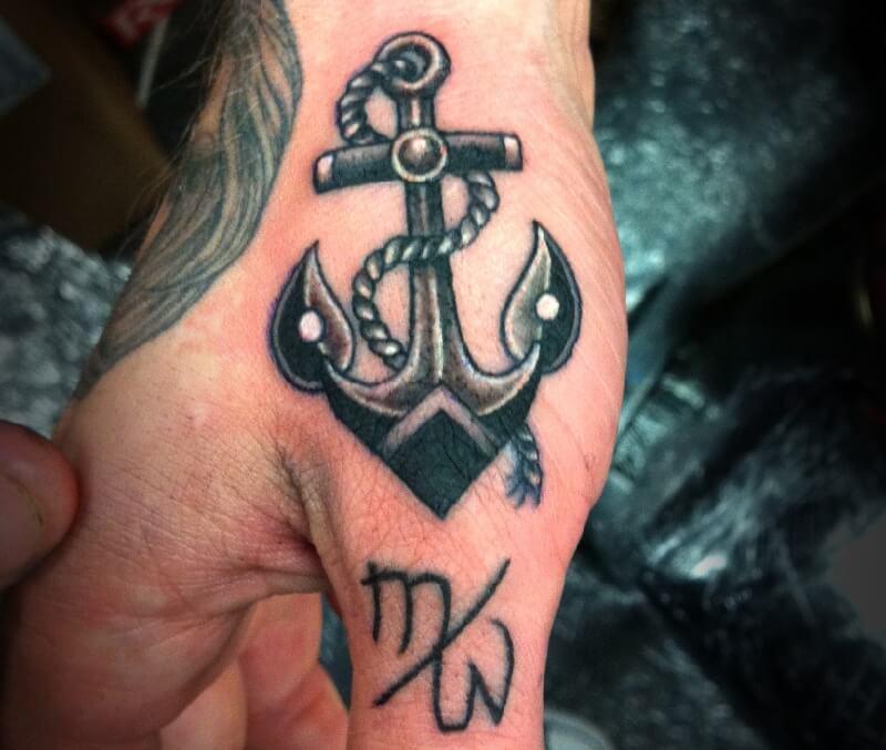 Тату якорь для мужчин - мужские тату якорь - татуировка якорь мужская - маленькие тату якорь