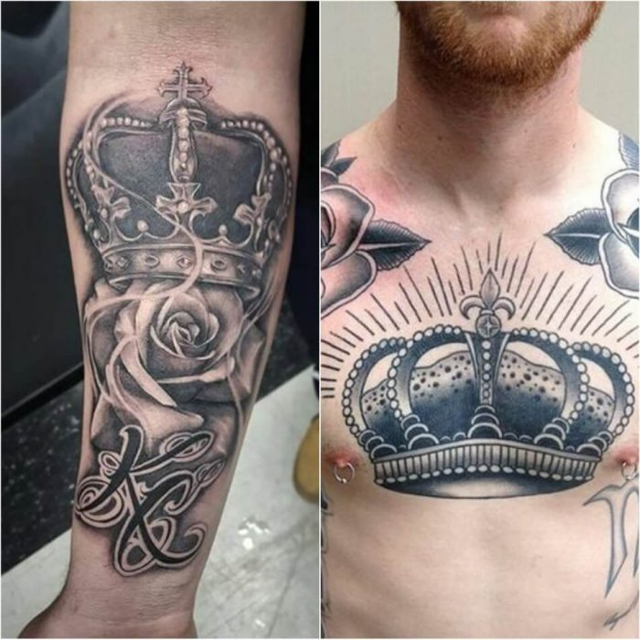 тату корона - мужские тату корона - тату корона для мужчин - татуировка корона эскиз мужские