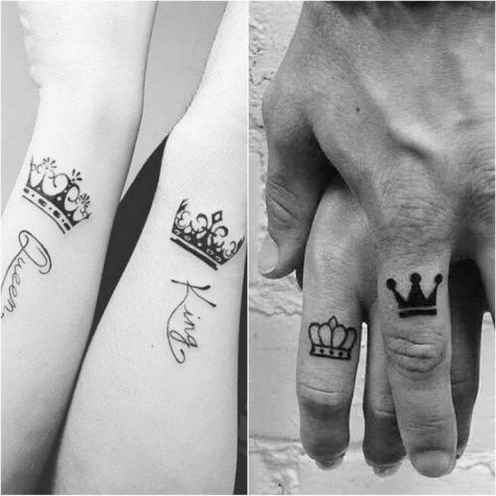 тату корона - парные тату корона - тату корона для двоих - тату корона для пары