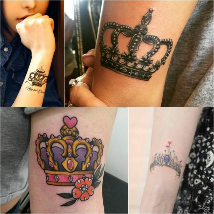 тату корона - татуировка корона женская - женское тату корона - тату корона для девушек эскиз