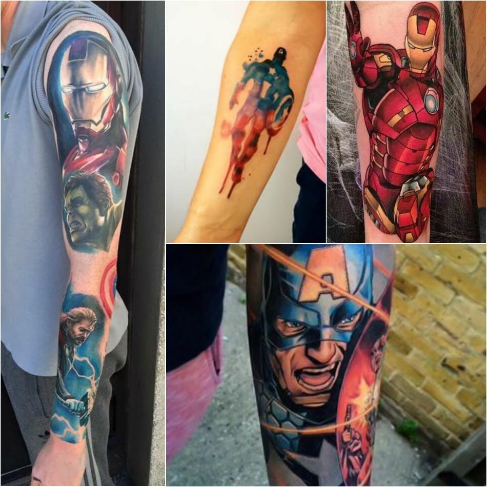 тату марвел - татуировки марвел - тату супергерои - тату мстители