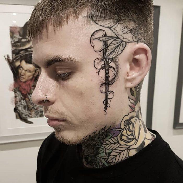 тату на лице - татуировки на лице - надписи на лице -тату на лице эскизы