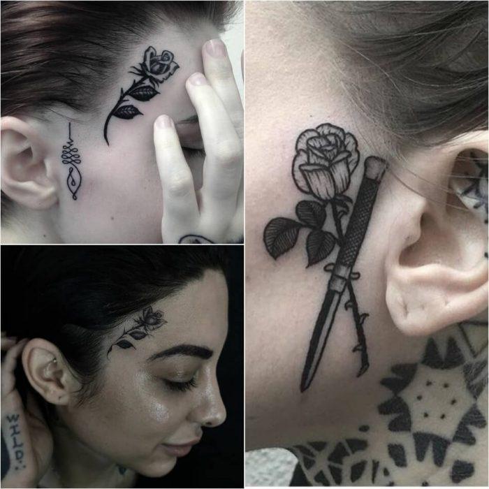 тату на лице - женские тату на лице - тату на лице для девушек - татуировки на лице женские