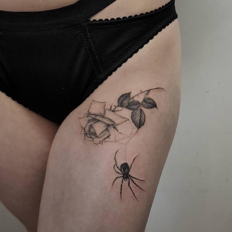 тату паук - татуировка паук -значение тату паук - тату паук эскизы - тату с пауком фото