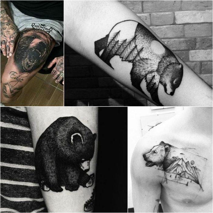 тату с животными - Tatu-medved-Muzhskie-tatu-medved-Tatu-dlya-muzhchin-medved