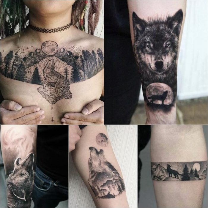 тату с животными - Tatu-volk-Tatu-volk-znachenie-Tatu-volk-znachenie-i-e`skizyi