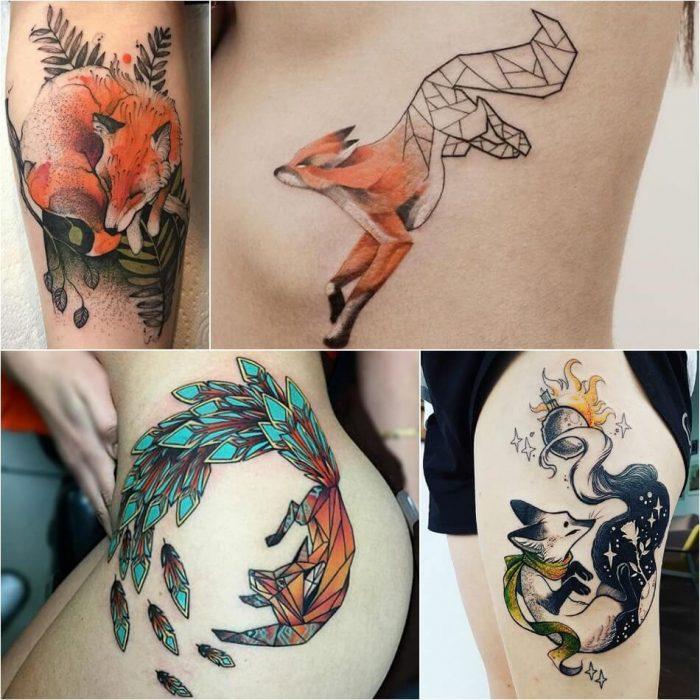 тату с животными - тату звери - тату лиса - татуировка лиса