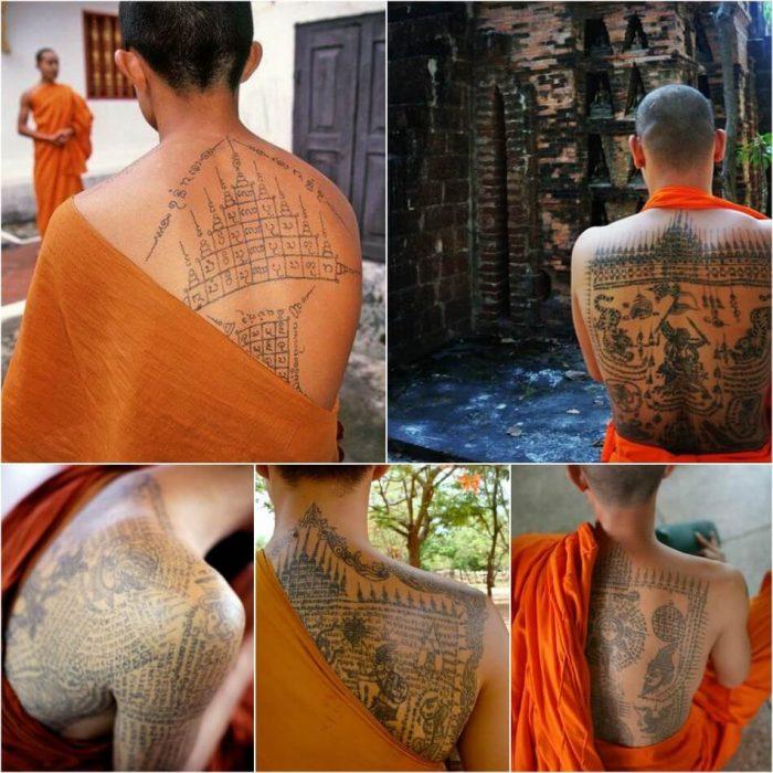 тату сак янт - татуировки буддистов - тату сак янт монахи - значение сак янт