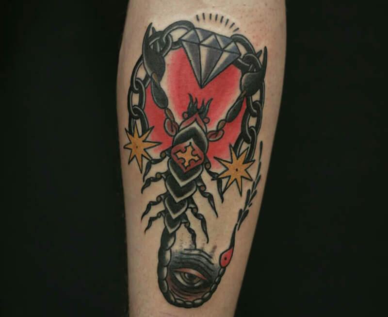 тату скорпион - тату скорпион знак зодиака - татуировка скорпион