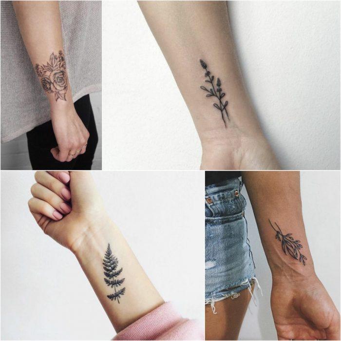 женские тату на руке - тату на запястье женские - тату для девушек на запястье