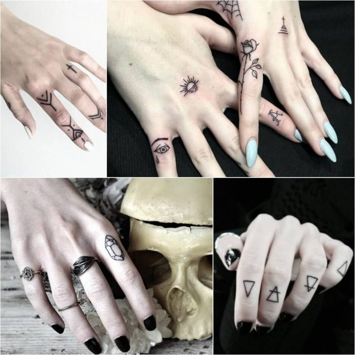 женские тату на руке - женские тату на пальце - тату на пальце для девушек
