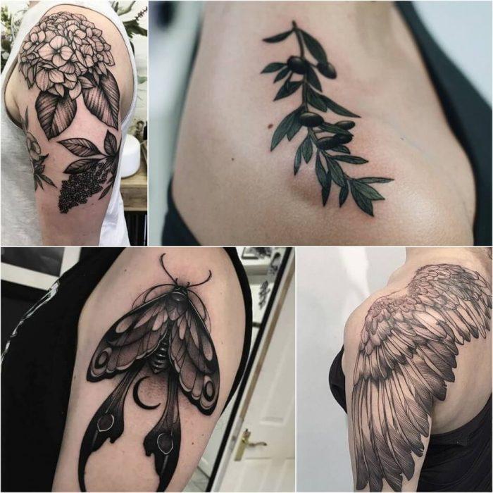 женские тату на руке - женские тату на плече - тату на плече для девушек