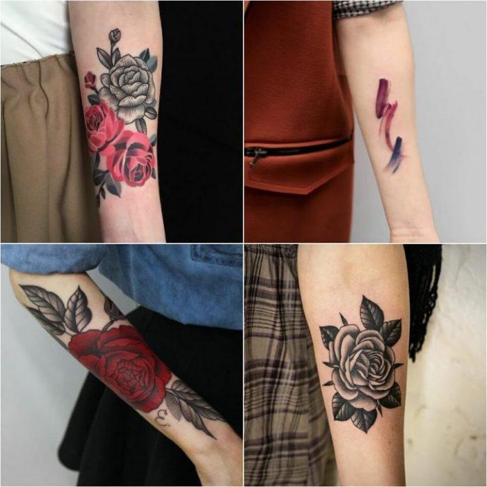женские тату на руке - женские тату на предлплечье - тату на предплечье для девушек