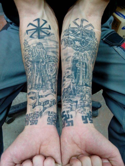 славянские тату - татуировки славян - славянская тематика тату - славянские обереги тату - татуировки славянская традиция