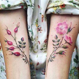 Тату Акварель для Женщин - Акварельные Татуировки для Женщин