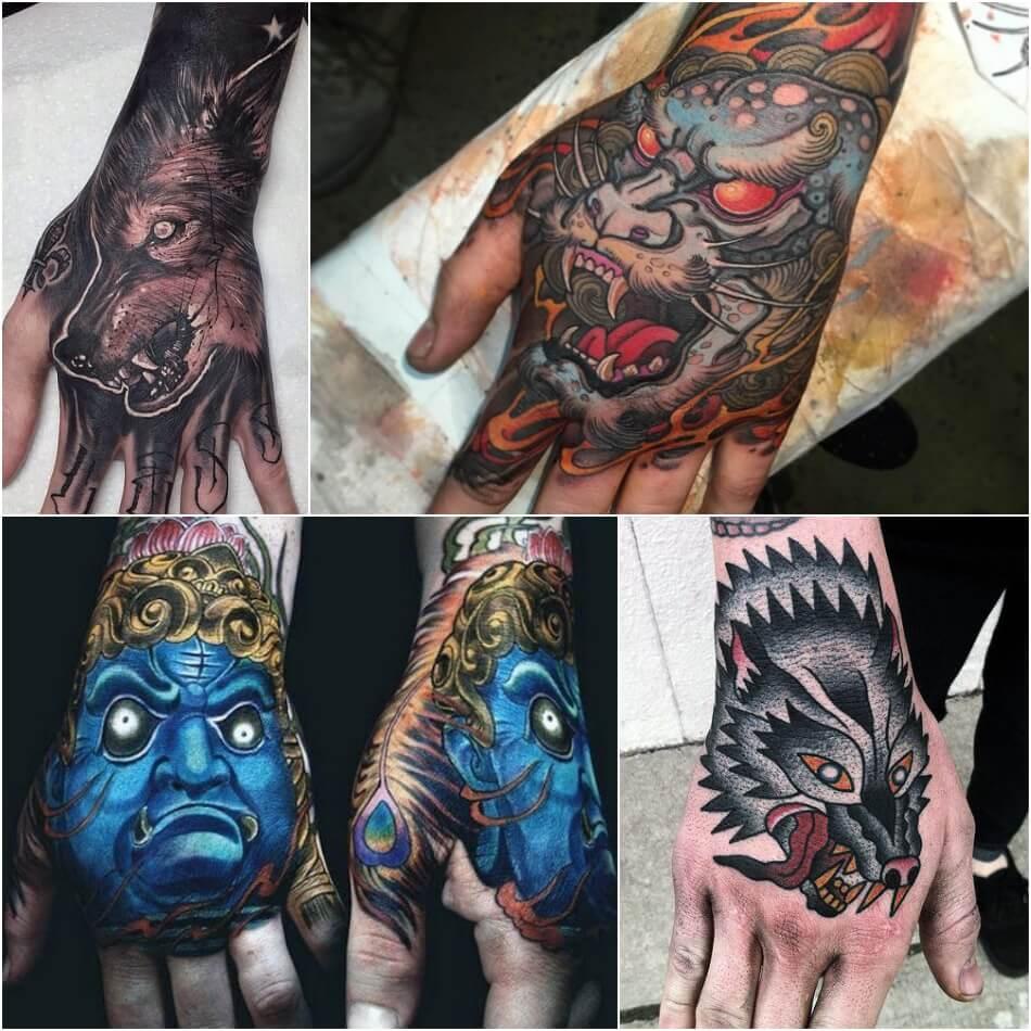 мужские тату на кисти руки - тату на кисти руки для мужчин - тату дракона на кисти руки
