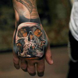мужские тату на кисти руки - тату на кисти руки для мужчин - тату на кисти череп