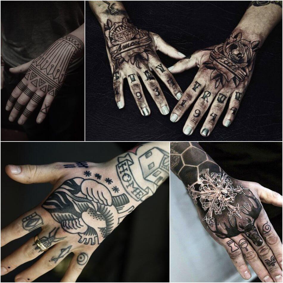 мужские тату на кисти руки - тату на кисти руки для мужчин - тату на кисти руки