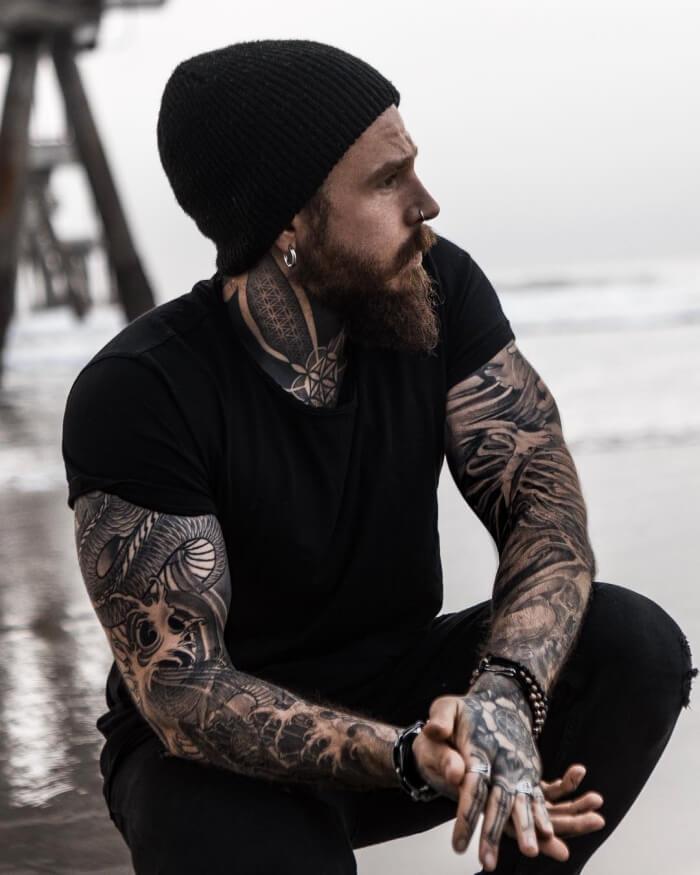 тату рукав мужской - татуировки мужские - тату рукав